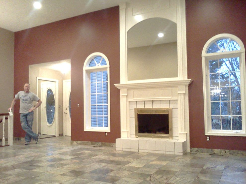 Skim Coating for a  Living Room with a Texturing and Our Work by Prime Time Painting & Drywall Llc