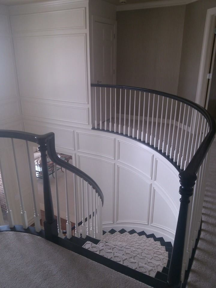 Skim Coating for a  Staircase with a Exterior Painting and Our Work by Prime Time Painting & Drywall Llc