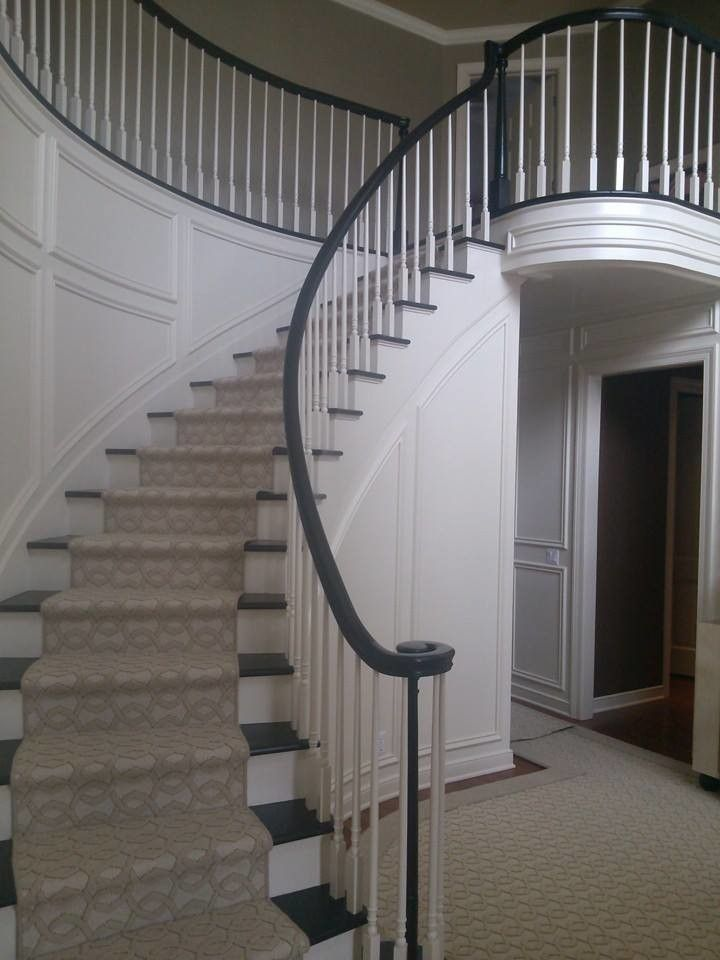 Skim Coating for a  Staircase with a White Wainscoting and Our Work by Prime Time Painting & Drywall Llc