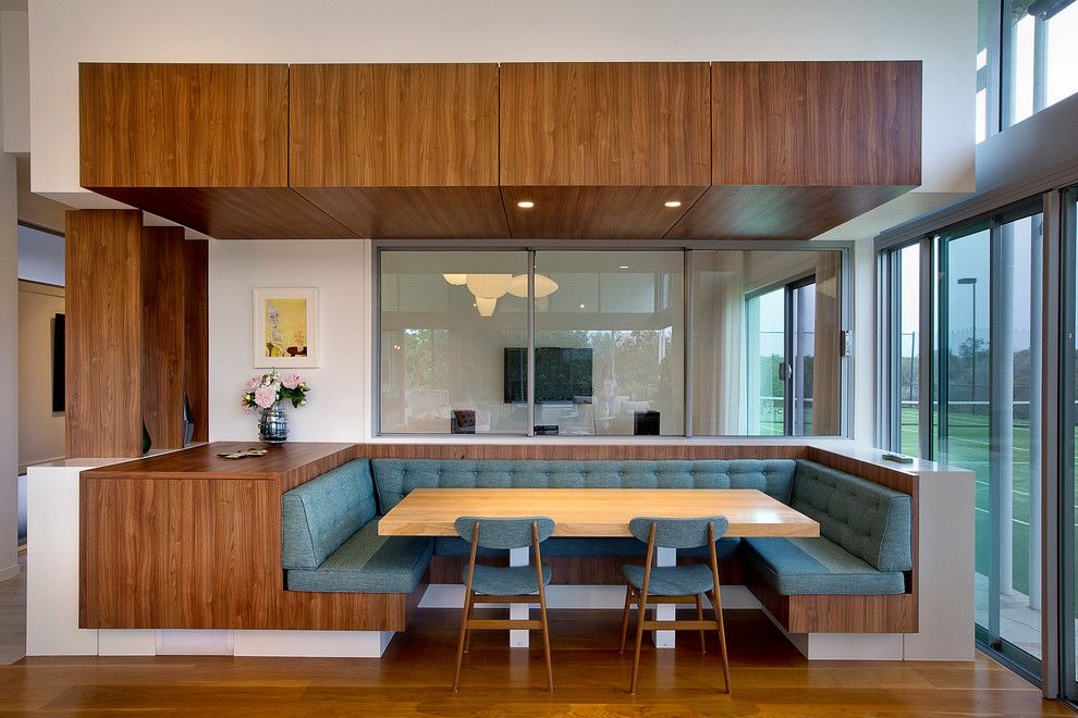 Skunk Smell in House for a Contemporary Dining Room with a Teal and the North Point by Paul Uhlmann Architects