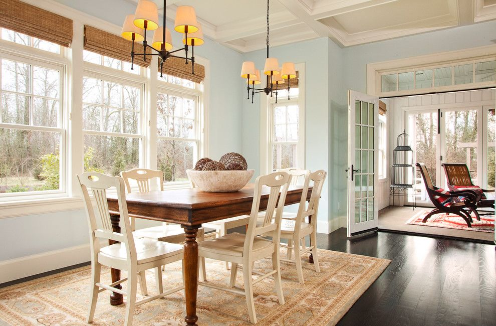 Skunk Smell in House for a Traditional Dining Room with a Dining Room Designs and West Coast Hampton by Garrison Hullinger Interior Design Inc.