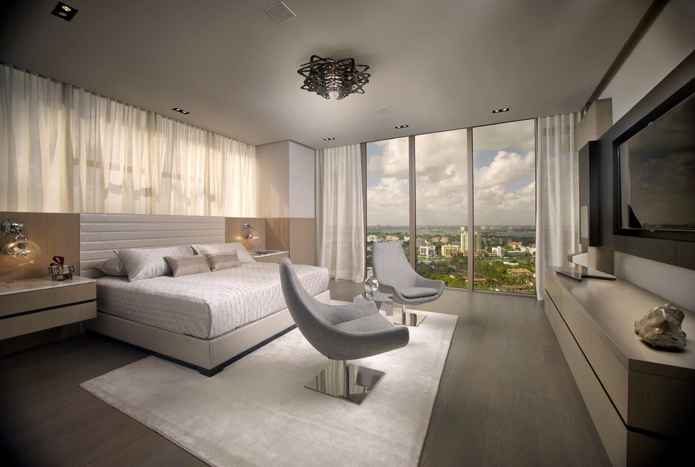 Slamp for a Contemporary Bedroom with a Contemporary and St. Regis 2104 by B+G Design Inc.