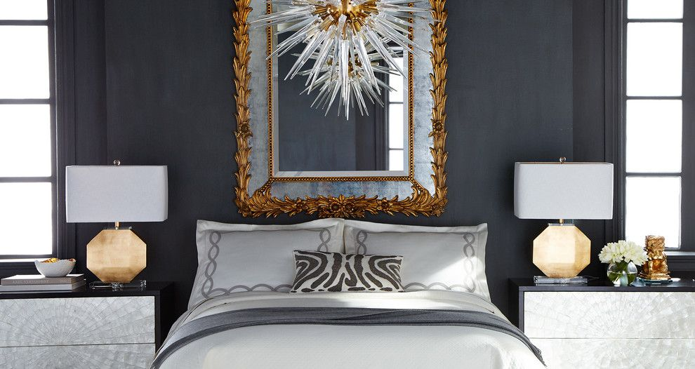 Slifer Smith and Frampton for a Transitional Bedroom with a Transitional and Horchow by Horchow