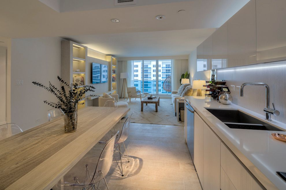 Sls Hotel Miami for a Contemporary Kitchen with a Lucite Chairs and 1hotel & Homes South Beach by Details Interior Design Llc