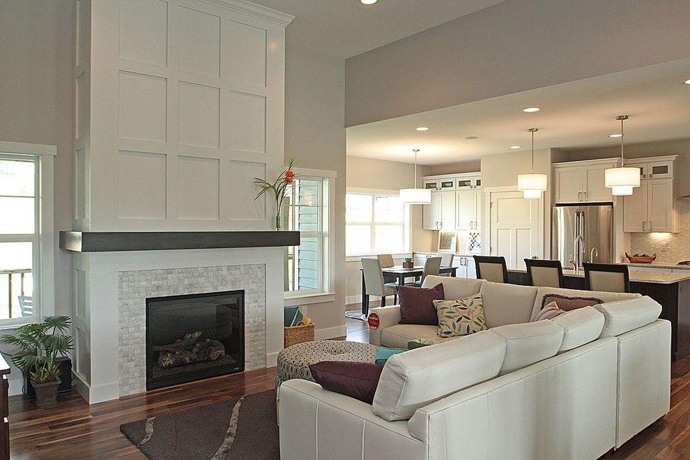 Slumberland Iowa City for a Modern Living Room with a Basketweave Backsplash and Cardinal Ridge, Iowa City, Ia by the Mansion