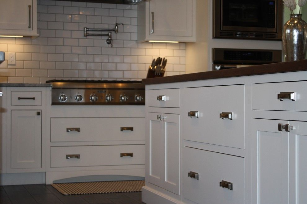 Slumberland Iowa City for a Transitional Kitchen with a Subway Tile and 2013 Iowa City Residence by Cabinet Style