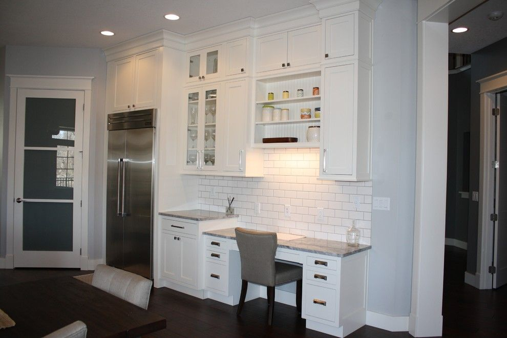 Slumberland Iowa City for a Transitional Kitchen with a White Subway Tile and 2013 Iowa City Residence by Cabinet Style