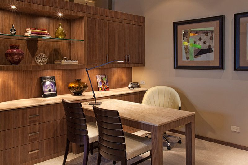 Smalls Chicago for a Modern Home Office with a Design and River North Condo by Marcel Page Photography