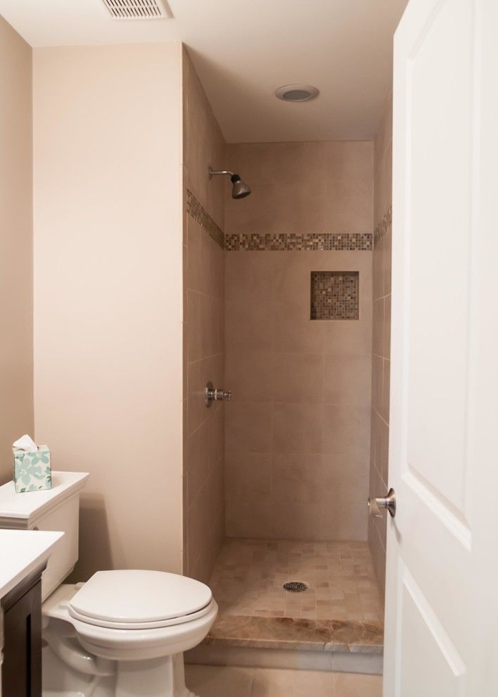 Smalls Chicago for a Traditional Bathroom with a Door Less Shower and Complete Home Renovation by Hyland Homes