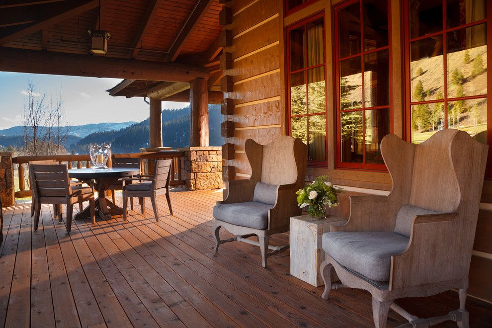 Snake River Sporting Club for a Rustic Deck with a Windows and Snake River Sporting Club by Wrj Design