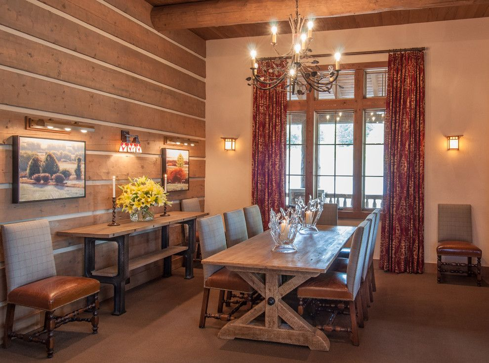 Snake River Sporting Club for a Rustic Dining Room with a Country Club and Snake River Sporting Club by Wrj Design