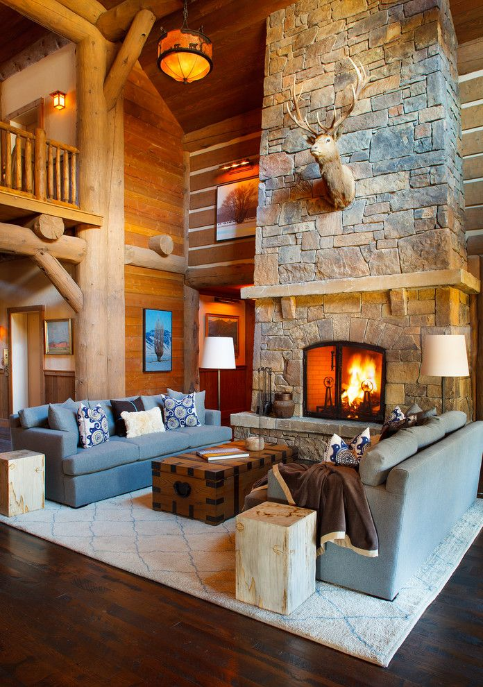 Snake River Sporting Club for a Rustic Living Room with a Country Club and Snake River Sporting Club by Wrj Design