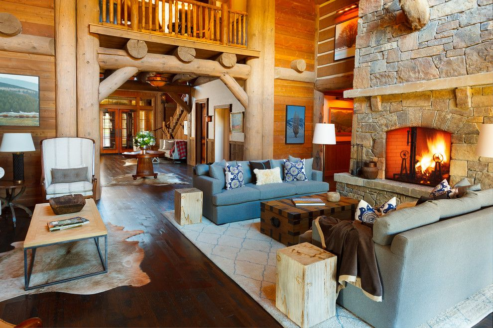 Snake River Sporting Club for a Rustic Living Room with a Multiple Seating Areas and Snake River Sporting Club by WRJ Design