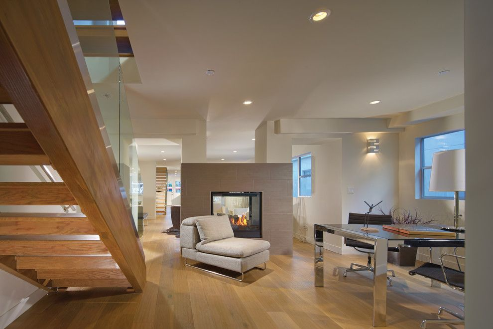Sol Newport Beach for a Contemporary Family Room with a Wood Staircase and Newport Beach Residence by Rrm Design Group