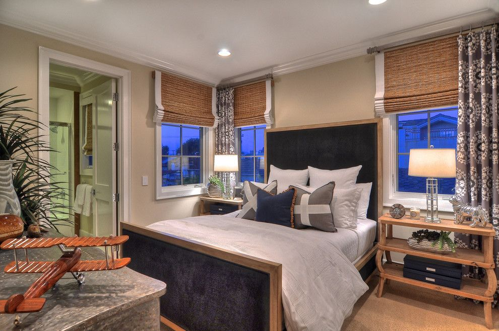 Sol Newport Beach for a Traditional Bedroom with a White Window Trim and Newport Beach   Guestroom by Details a Design Firm