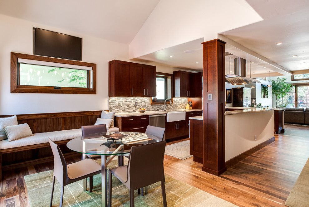 Sonata at Cherry Creek for a Transitional Kitchen with a Cherry Cabinets and Cherry Creek Kitchen Renovation Cherry Cabinets by Jm Kitchen & Bath