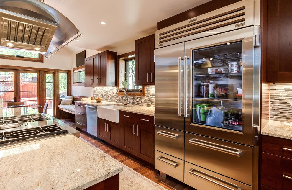 Sonata at Cherry Creek for a Transitional Kitchen with a Cherry Creek and Cherry Creek Kitchen Renovation Cherry Cabinets by Jm Kitchen & Bath