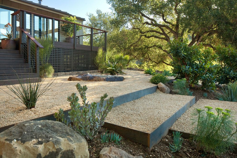 Sonos Santa Barbara for a Contemporary Landscape with a Before and After Photos and Grace Design Associates by Margie Grace   Grace Design Associates
