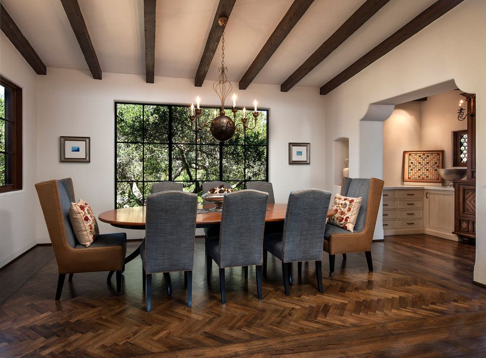 Sonos Santa Barbara for a Mediterranean Dining Room with a Steel Windows and Greene Residence by Designarc