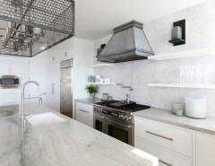 Sonos Santa Barbara for a Transitional Kitchen with a Kitchen Countertops and Coastal Contemporary - Santa Barbara by JODI FLEMING DESIGN
