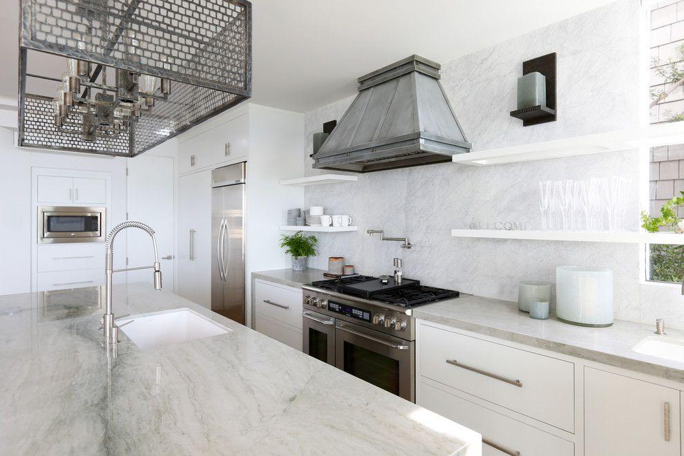 Sonos Santa Barbara for a Transitional Kitchen with a Kitchen Countertops and Coastal Contemporary   Santa Barbara by Jodi Fleming Design
