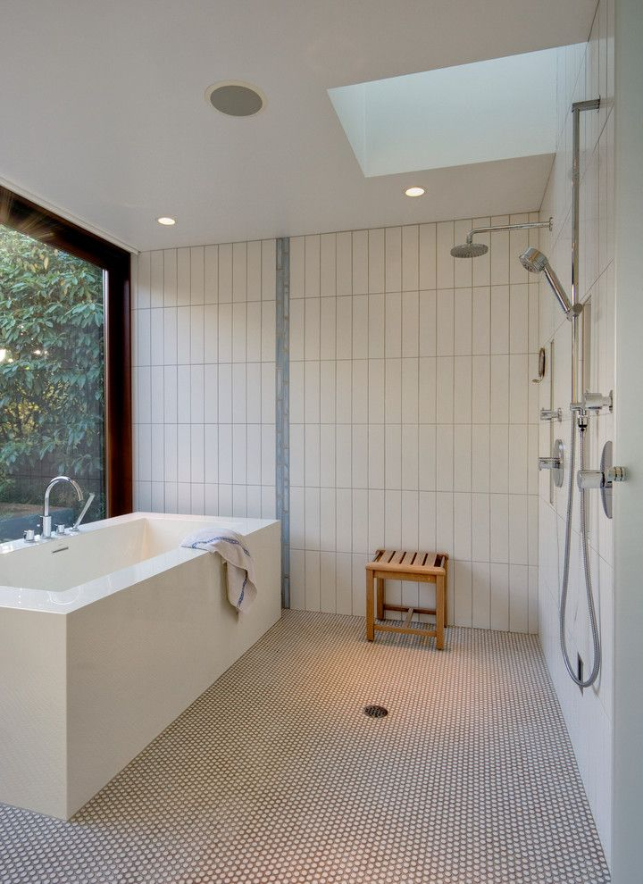 South Texas Center for Pediatric Care for a Modern Bathroom with a Penny Tile and Broadmoor Residence by David Coleman / Architecture