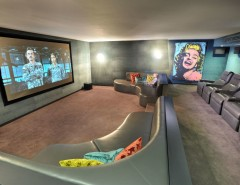 Southlake Movie Theater for a Contemporary Home Theater with a Federation Extension and Malvern Rebirth by Centrum Architects