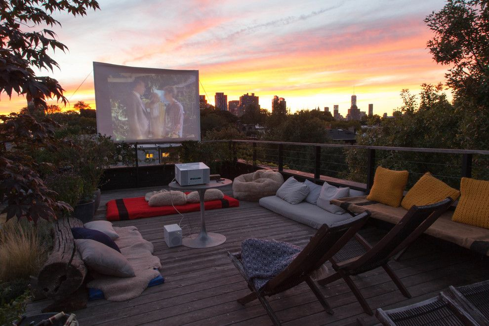 Southlake Movie Theater for a  Deck with a  and Fort Greene Roof Garden by Brook Landscape
