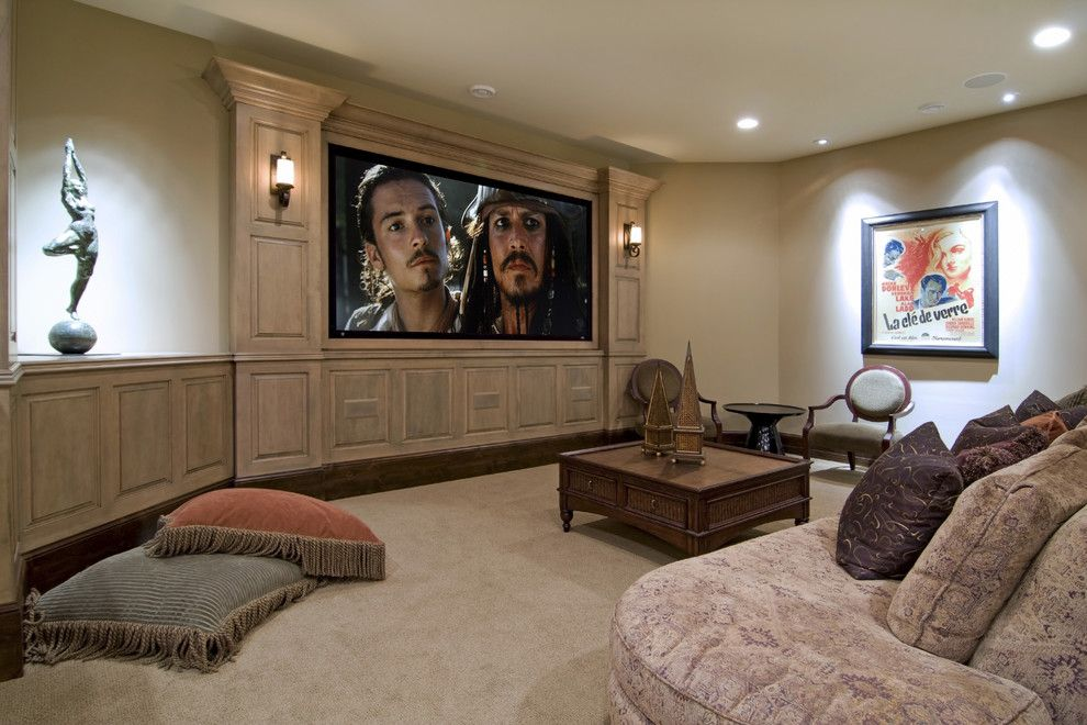 Southridge Theater for a Traditional Home Theater with a Traditional and Spur Road   Edina, Mn by Schrader & Companies