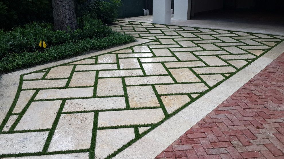 Southwest Greens for a Contemporary Garage with a Synthetic Turf and Artificial Grass by Southwest Greens of Florida