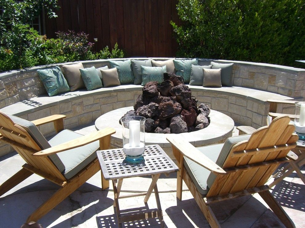 Space Oddity Album for a Contemporary Patio with a Rock Wall and Assorted by Environmental Concept