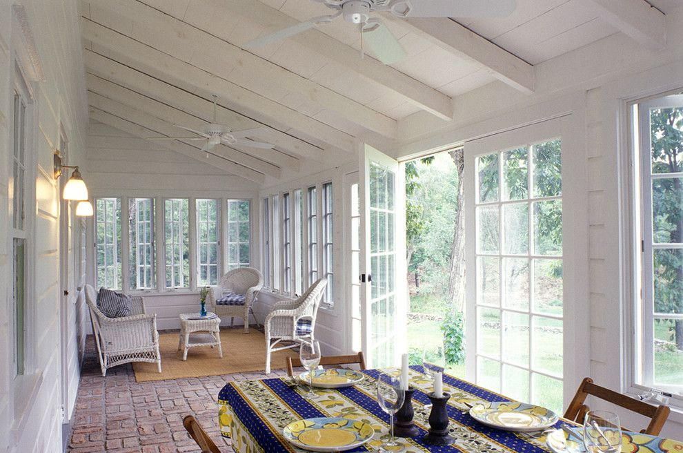 Space Oddity Album for a Farmhouse Sunroom with a Small Farm House and Crisp Architects by Crisp Architects