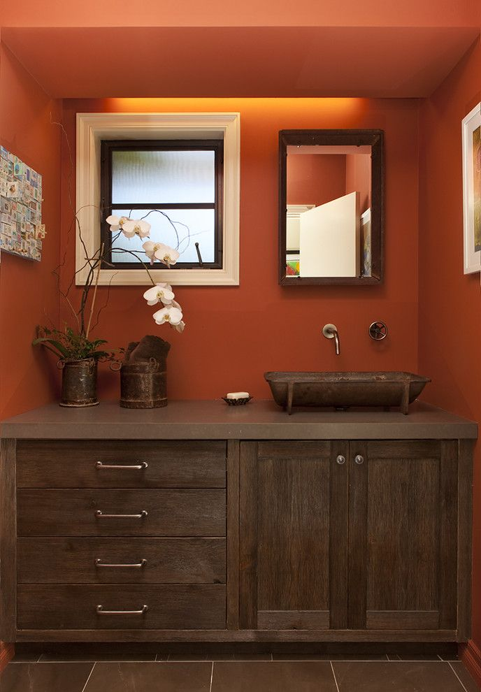 Space Oddity Album for a Rustic Bathroom with a Cove Lighting and Rustic Bathroom by Artisticdesignsforliving.com