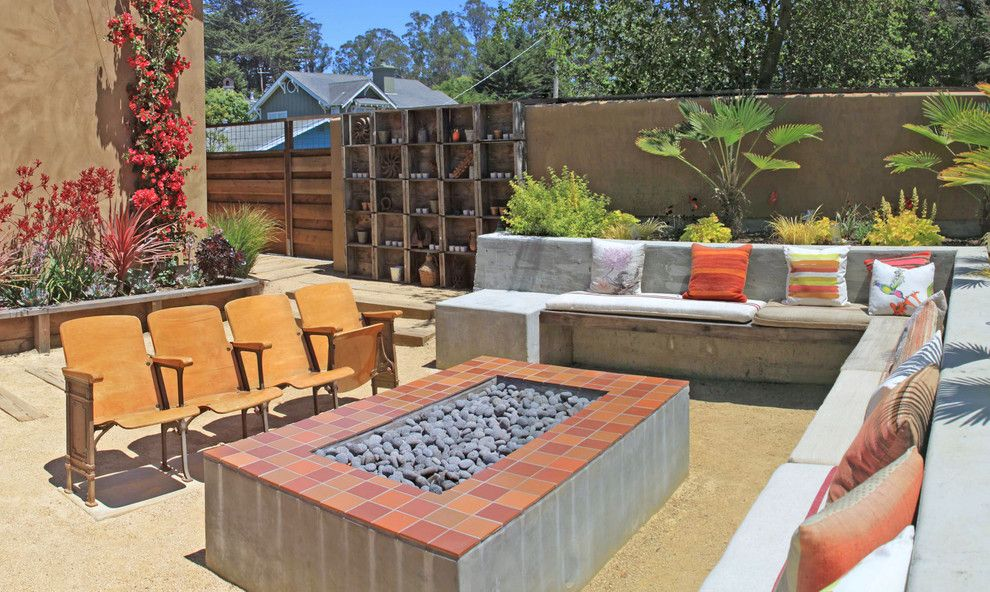 Spanish Fork Theater for a Mediterranean Patio with a Rustic and Pleasure Point Residence by Ssa Landscape Architects