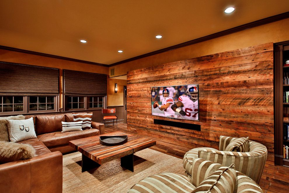 Sparkle Pools for a Transitional Family Room with a Reclaimed Wood and Loudonville Luxury by Teakwood Builders, Inc.