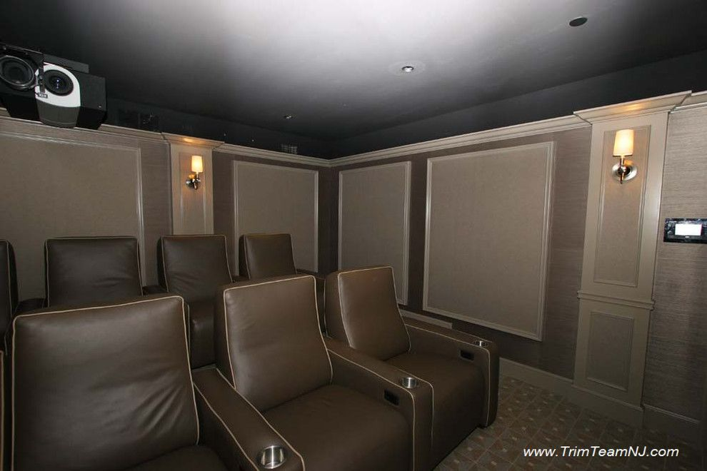 Sparta Theater Nj for a Traditional Home Theater with a Traditional and Galeria  Bookcases, Wall Unith, Built Ins, Shelving by Trim Team Nj