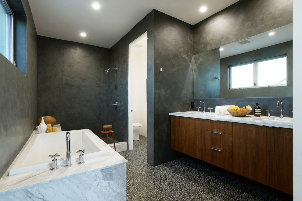 Spca New Orleans for a Contemporary Bathroom with a Contemporary and Modern Waterloo Estate by New Utopia Design Build