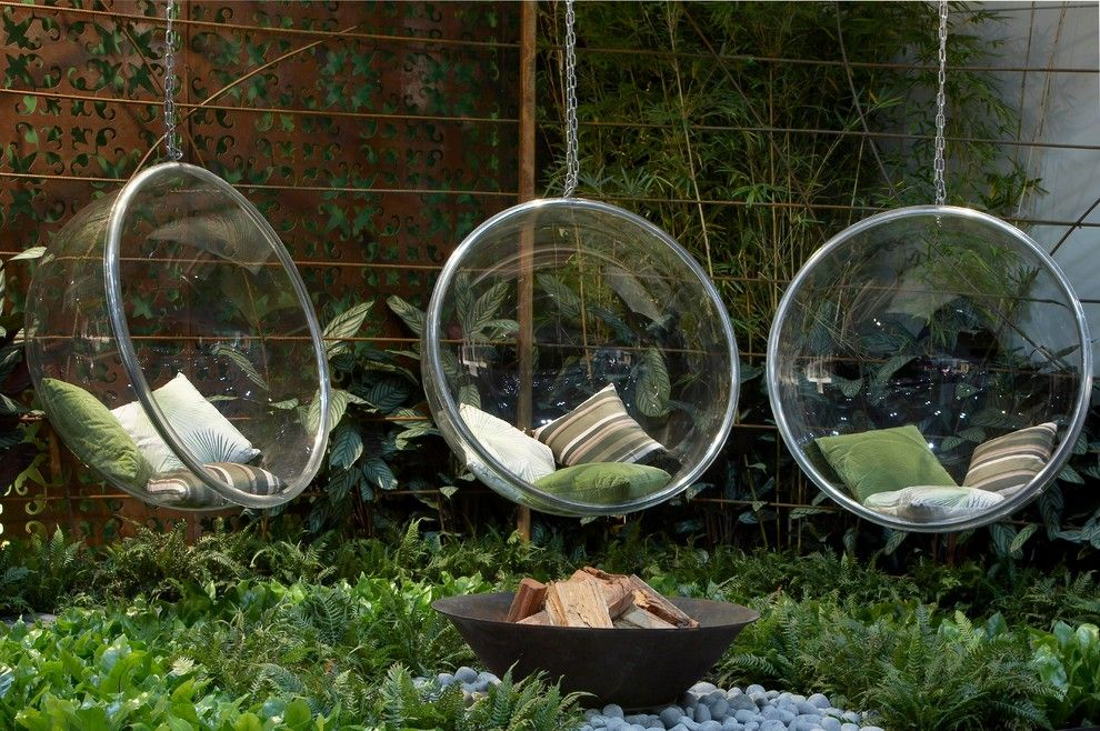 Spring Cleaning Checklist for a Contemporary Landscape with a Bubble Chairs and Hanging Out by Dean Herald Rolling Stone Landscapes