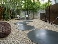 Spring Cleaning Checklist for a Modern Landscape with a Garden Art and Modern Landscape by Exterior Worlds Landscaping & Design