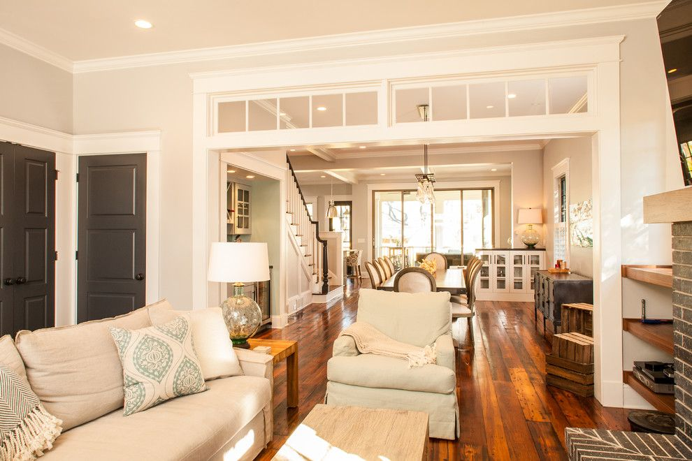 Spring Window Fashions for a Craftsman Living Room with a Sandy Springs and Historic Whole House Renovation   Living Room by Renewal Design Build