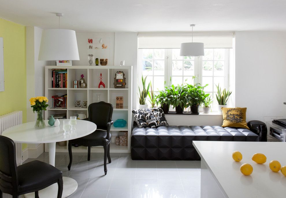 Spring Window Fashions for a Eclectic Dining Room with a Indoor Plants and North East London by Amberth