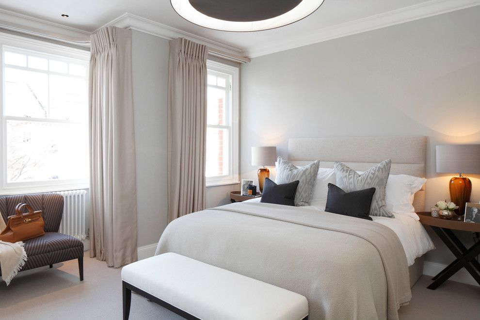 St Albans Mo for a Contemporary Bedroom with a Contemporary and St Albans Ave by Laura Hammett Ltd