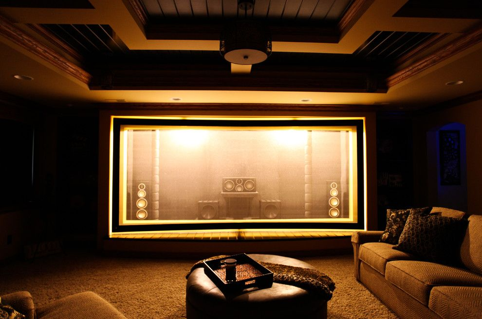 St Croix Theater for a Craftsman Home Theater with a Gxfx Speakers and Martin Theater   Acoustically Transparent Screen by Trent Martin