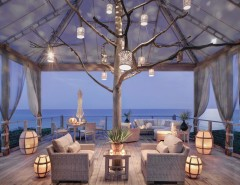 St Germain Furniture for a Beach Style Deck with a Casual Elegance and Cozy Outdoor Living Room by Peters Billiards