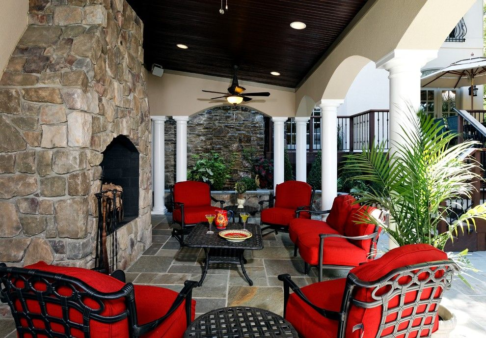 St Germain Furniture for a Traditional Patio with a Pavers and Mclean Residence by Lori Shaffer