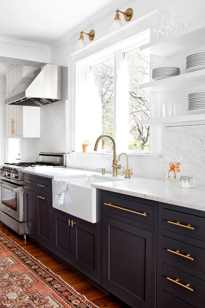 St Peters Olney for a Transitional Kitchen with a Transitional Kitchen and Kitchen by Elizabeth Lawson Design