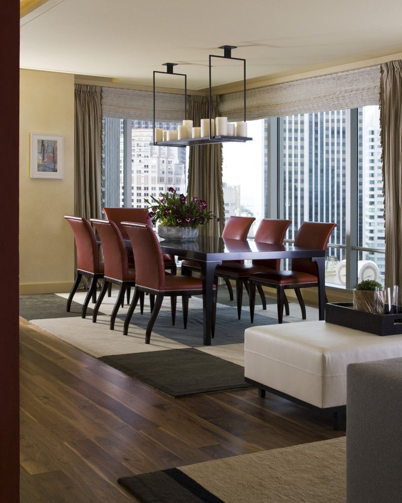 St Regis Sf for a Contemporary Dining Room with a Upholstery and St. Regis Sf High Rise by Kendall Wilkinson Design