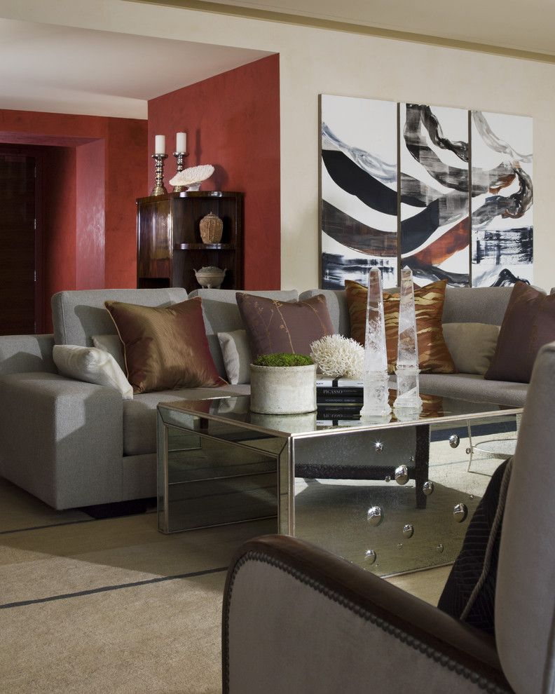 St Regis Sf for a Contemporary Living Room with a Red and St. Regis Sf High Rise by Kendall Wilkinson Design
