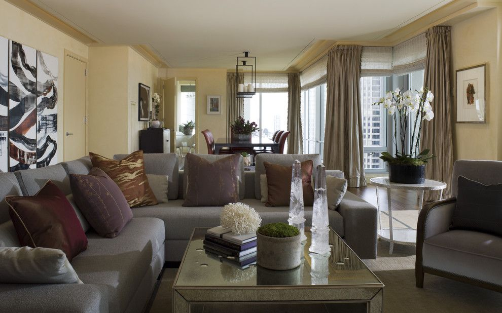 St Regis Sf for a Contemporary Living Room with a Sofas and St. Regis SF High Rise by Kendall Wilkinson Design