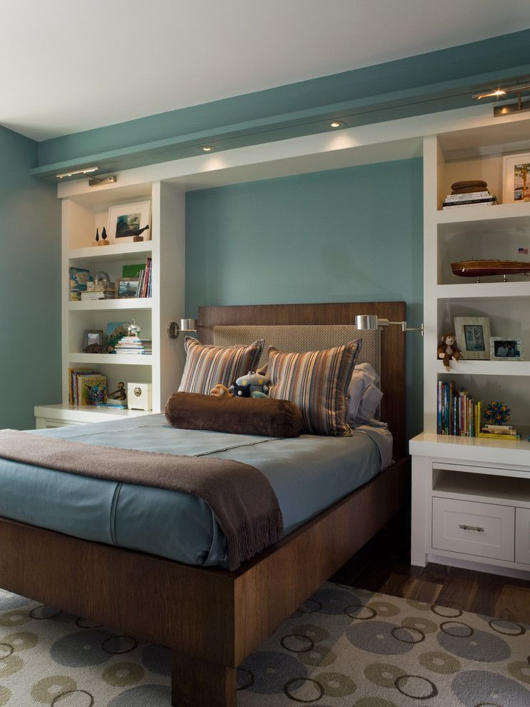 St Regis Sf for a Modern Bedroom with a Rug and St. Regis Sf High Rise by Kendall Wilkinson Design